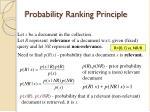 probability ranking principle