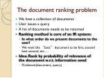 the document ranking problem