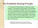 the probability ranking principle