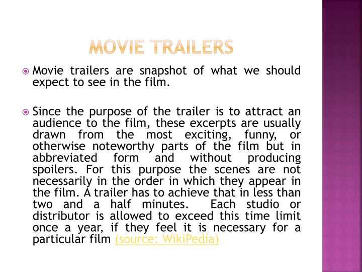 Movie trailers