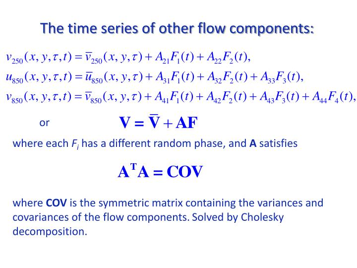 The time series of other flow components:
