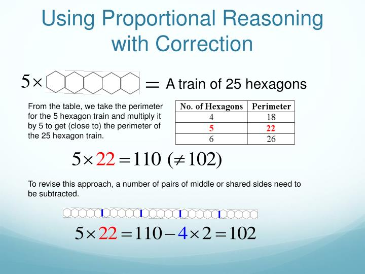 Using Proportional Reasoning with Correction