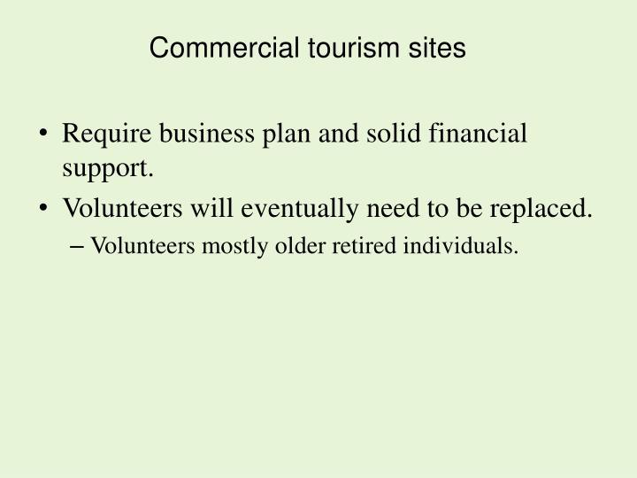 Commercial tourism sites