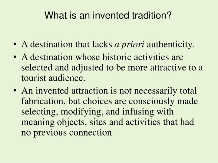 What is an invented tradition
