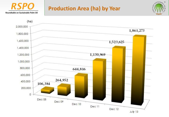 Production Area (ha) by Year