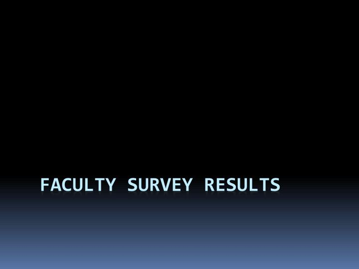 Faculty survey results