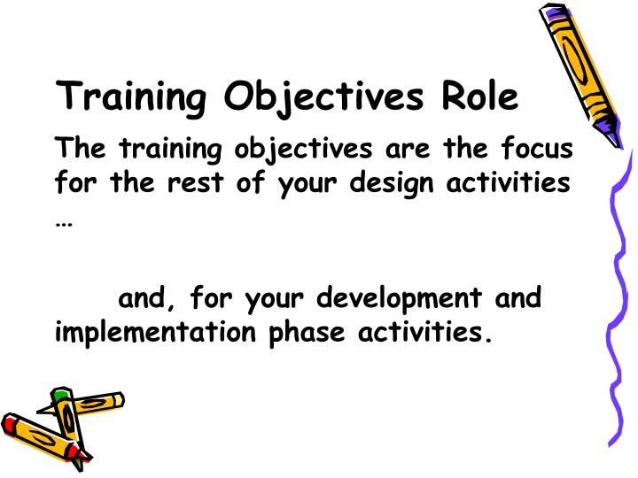Training Objectives Role