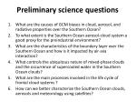 preliminary s cience questions