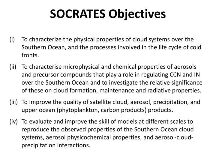SOCRATES Objectives