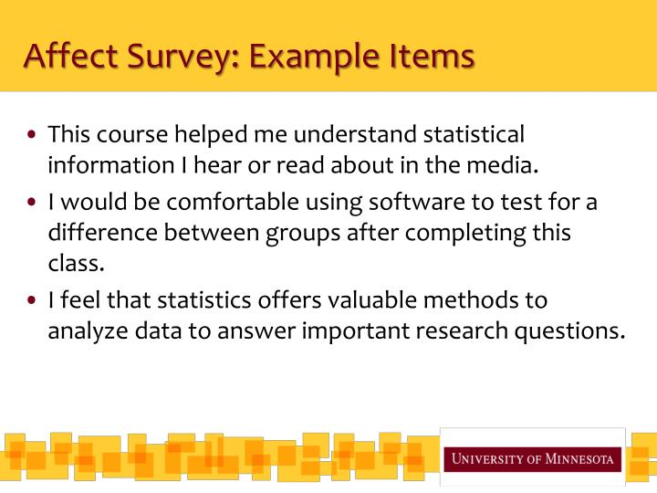 Affect Survey: Example Items
