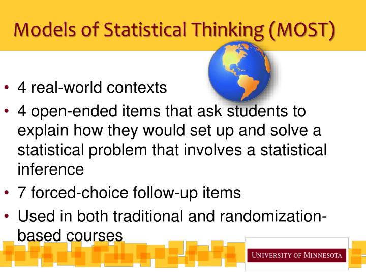 Models of Statistical Thinking (MOST)