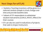 next steps for eatlas