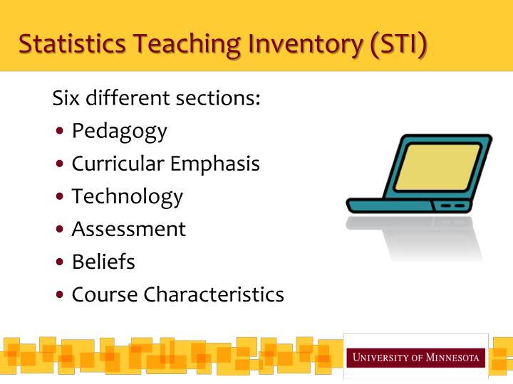 Statistics Teaching Inventory (STI)