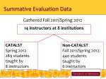 summative evaluation data