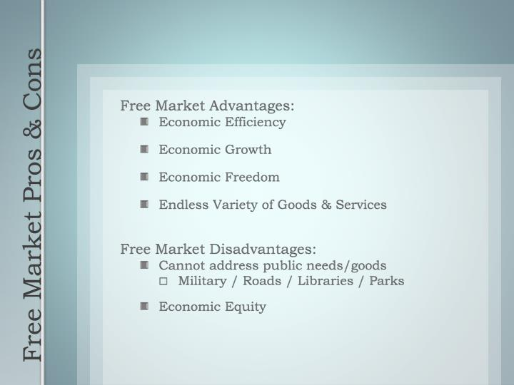 Free Market Advantages: