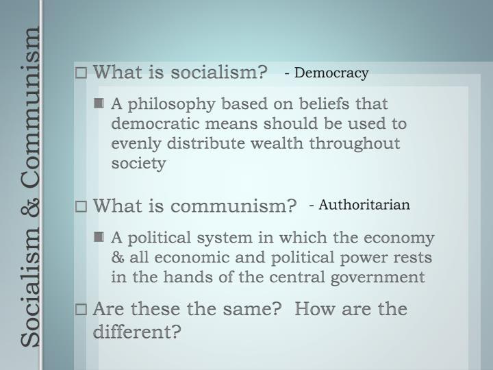- Democracy