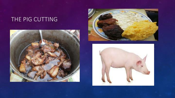 The pig cutting