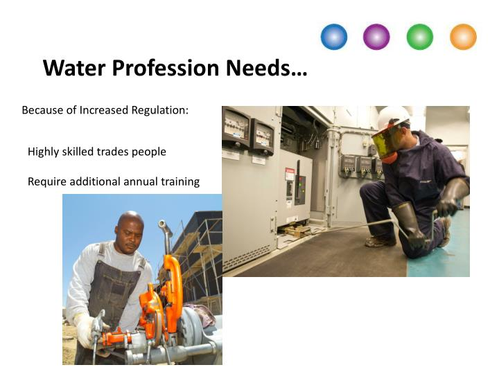 Water Profession Needs…