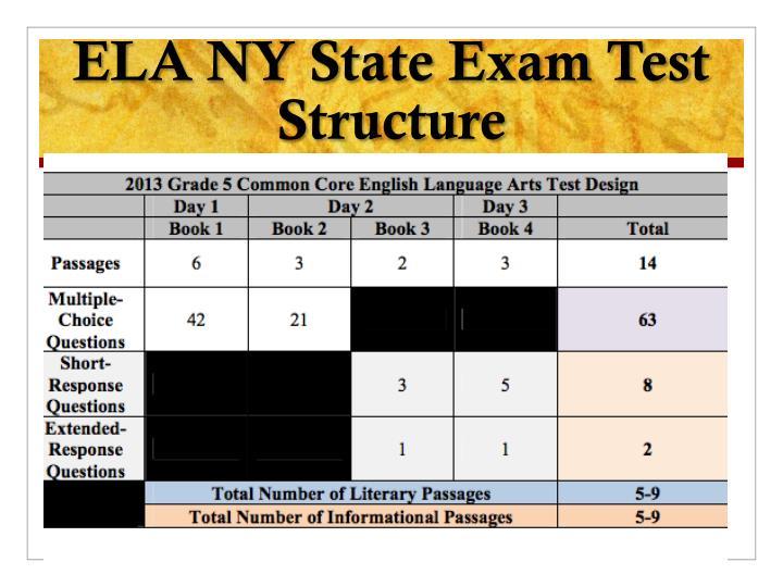 ELA NY State Exam Test Structure