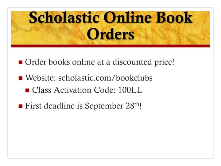 Scholastic Online Book Orders