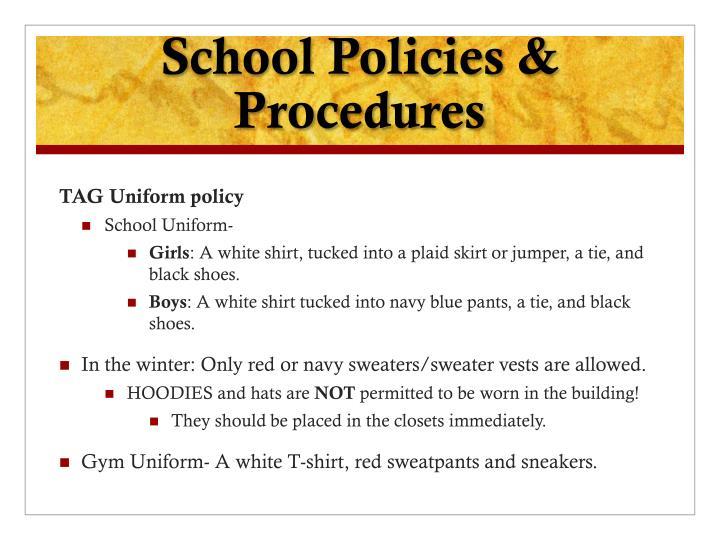 School Policies & Procedures