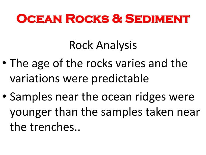 Ocean Rocks & Sediment