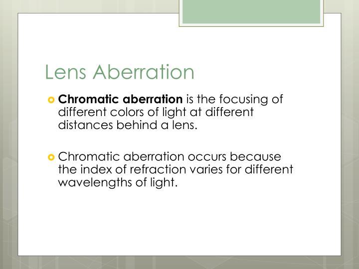 Lens Aberration
