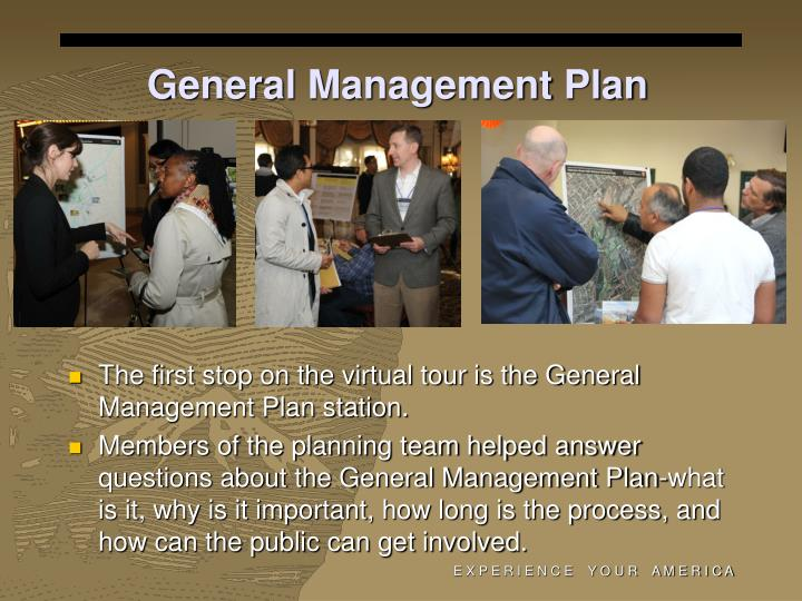 General Management Plan