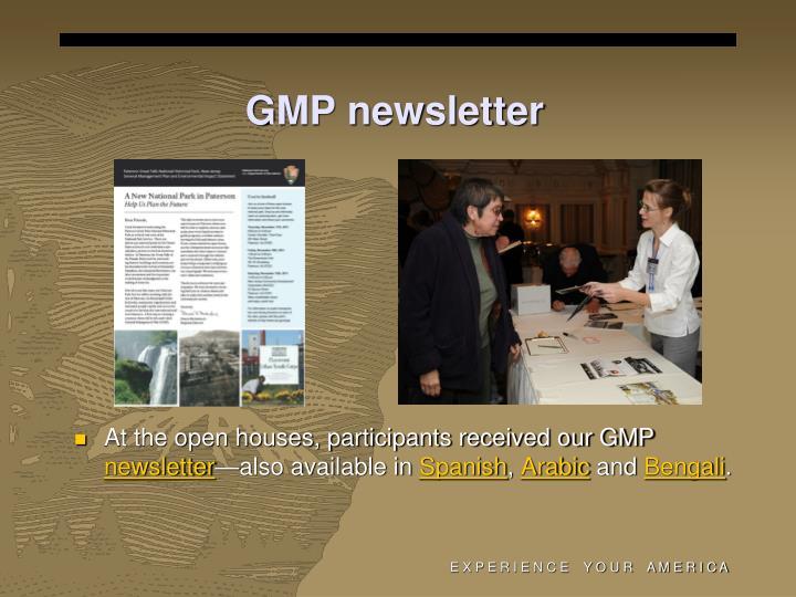GMP newsletter
