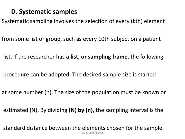 D. Systematic samples