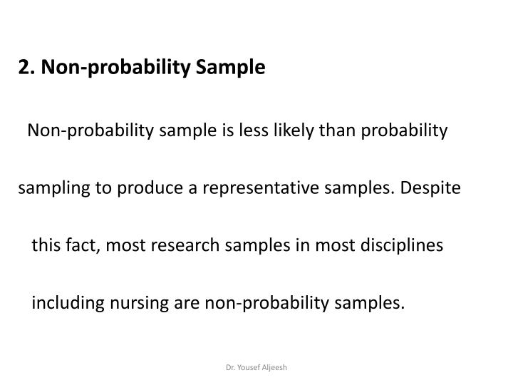 2. Non-probability Sample