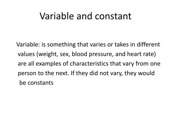 Variable and constant
