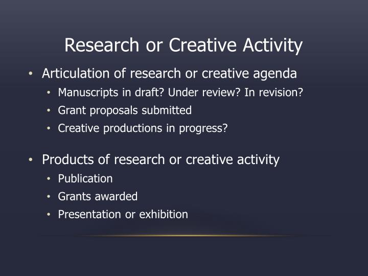 Research or Creative Activity