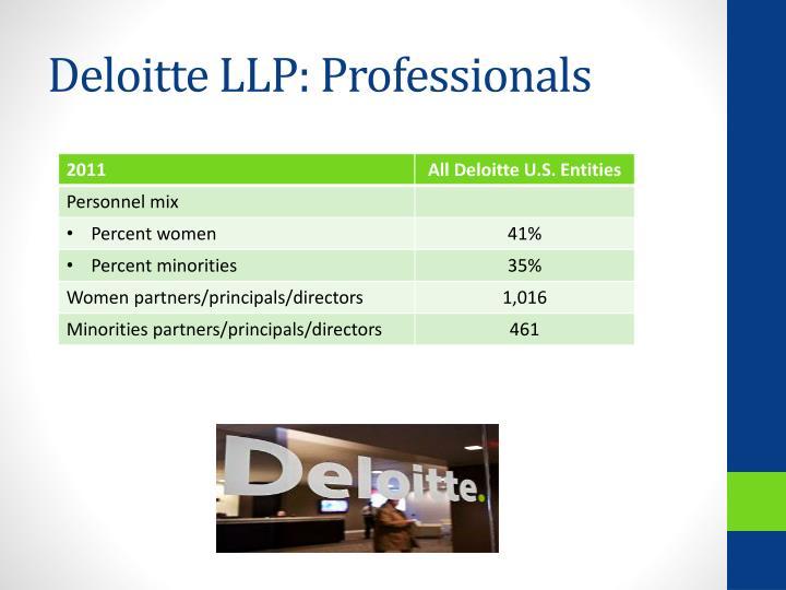 Deloitte LLP: Professionals