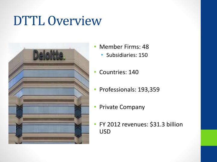 DTTL Overview