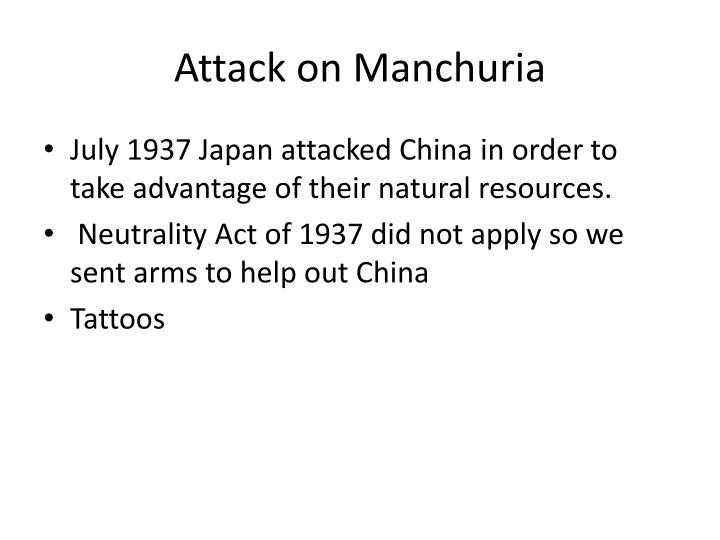 Attack on Manchuria