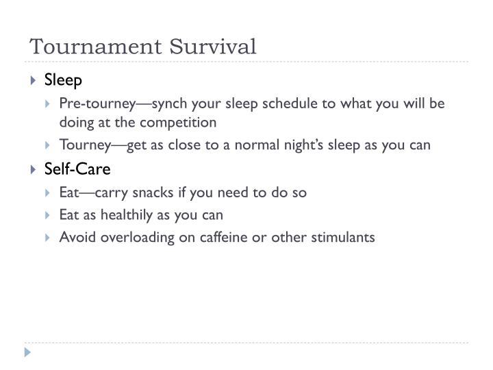 Tournament Survival