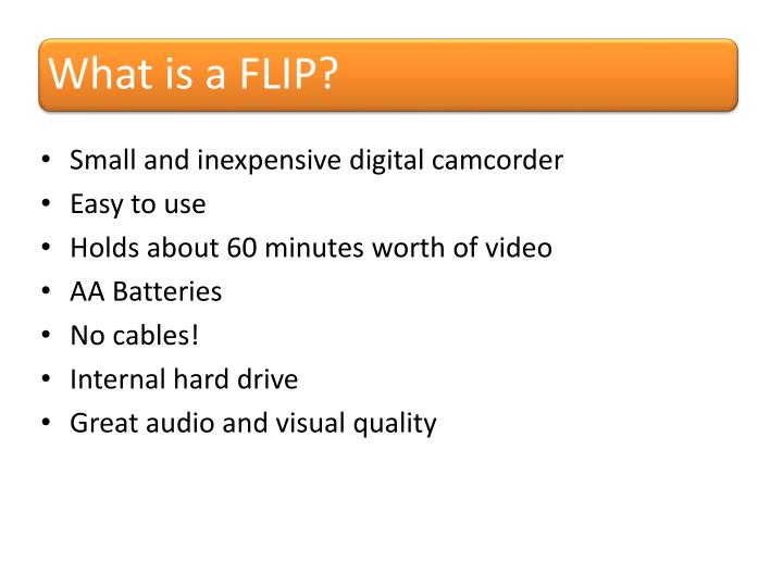 What is a flip