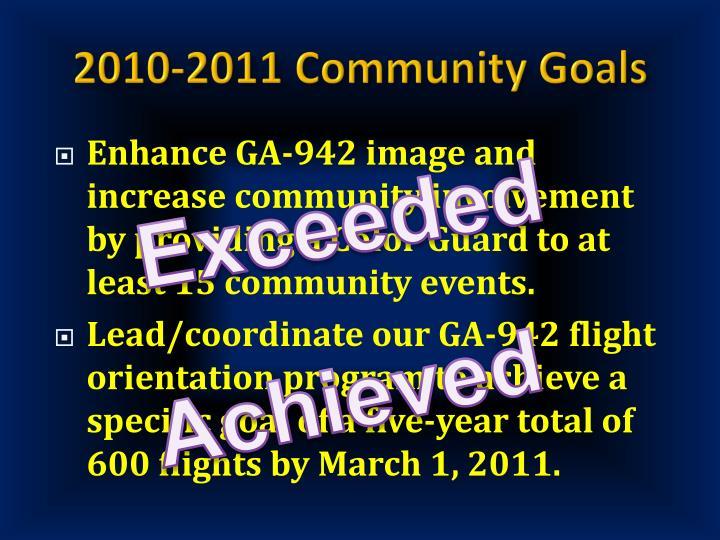 2010-2011 Community Goals