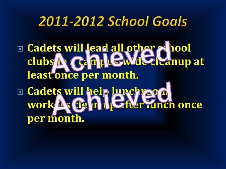 2011-2012 School Goals