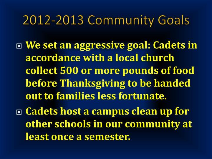 2012-2013 Community Goals