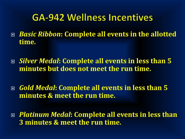 GA-942 Wellness Incentives