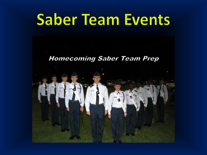 Saber Team Events