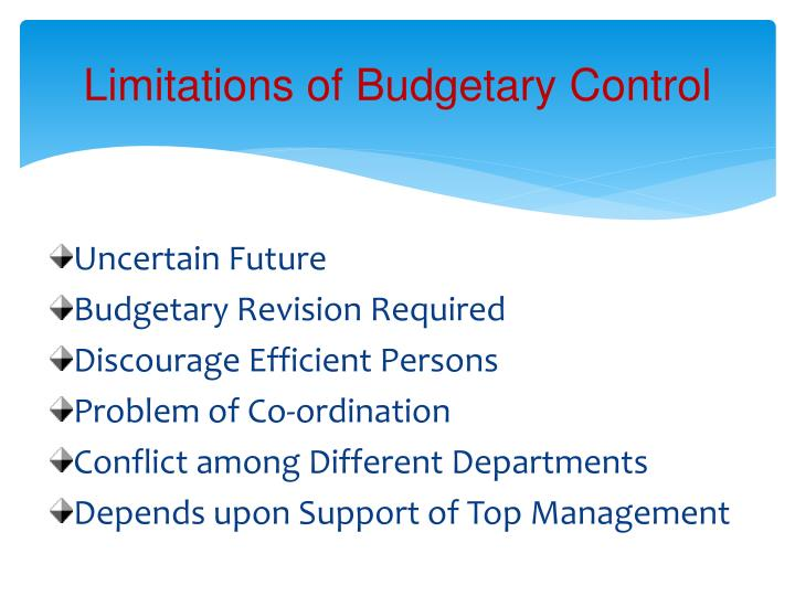 Limitations of Budgetary Control