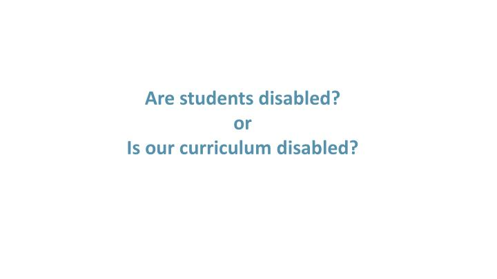 Are students disabled?