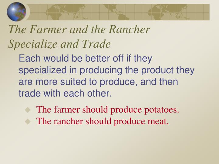 The Farmer and the Rancher Specialize and Trade