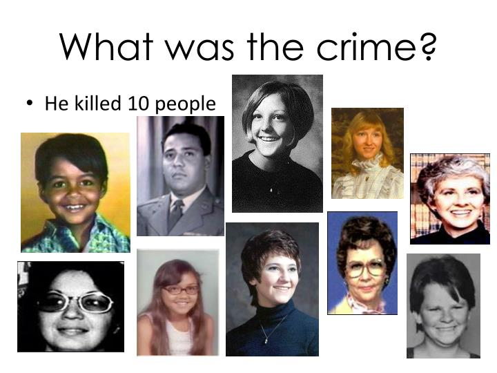What was the crime?