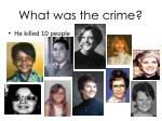 what was the crime