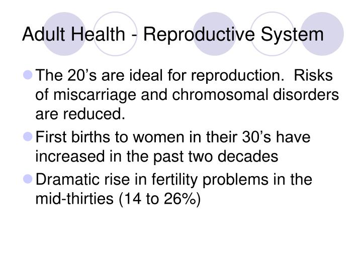 Adult Health - Reproductive System