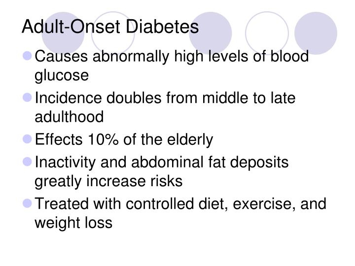 Adult-Onset Diabetes